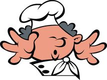 Chef face and hands Royalty Free Stock Photo