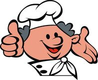 Chef face and hands Royalty Free Stock Photography