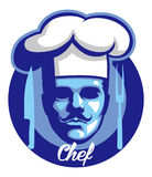 Chef face mascot Royalty Free Stock Photography