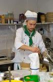 chef faisant cuire la cuisine Image stock