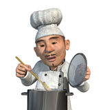 Chef faisant cuire un repas Photos libres de droits