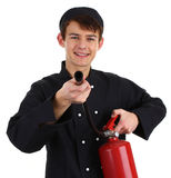 Chef fire fighter Stock Image