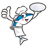 Chef Fish Mascot Stock Photo