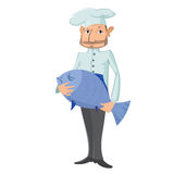 Chef with fish Royalty Free Stock Photo