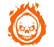 Chef flambant de Reaper Image libre de droits