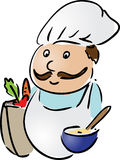 Chef with food Stock Photography