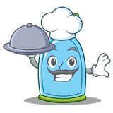 Chef with food liquid soap character cartoon. Vector illustration Royalty Free Stock Photos
