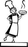 Chef and fresh pie Stock Photos