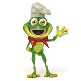 Chef frog say hello Stock Images