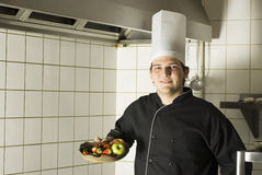 Chef with Fruit Stock Image