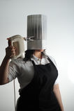 Chef frustrated with her cooking 3 Stock Photography