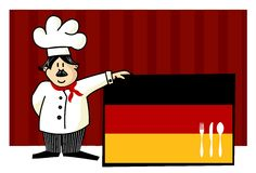 Chef of german cuisine Royalty Free Stock Image