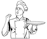 Chef Gesture Delicious Stock Photography