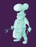 Chef Ghost de bande dessinée Photos stock