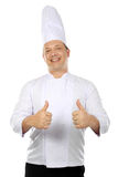 Chef gives thumbs up Royalty Free Stock Images