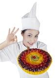 Chef giving OK sign Stock Photos