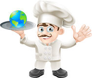 Chef globe concept Stock Photography