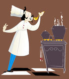 Chef goûtant la nourriture Image stock
