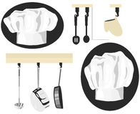 Chef graphique Icons Photo stock