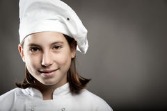 Chef  on gray background Royalty Free Stock Photos