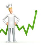 Chef with green diagram Stock Photo