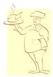 Chef. Hand-drawn illustration. Stock Photos