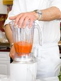 Chef hands with blender Stock Photography
