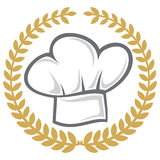 Chef hat. Hat worn by chefs in restaurants Royalty Free Stock Images