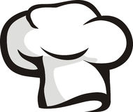 Chef hat. Illustration of withe chef hat isolated Stock Photography