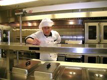 Chef - With Hat. The Chef wearing his poofy hat Stock Images