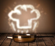 Chef hat above cooking pot Royalty Free Stock Photo