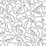 Chef hat, baker toque, cook cap seamless pattern Stock Photography