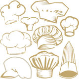 Chef Hat Collection Stock Photo