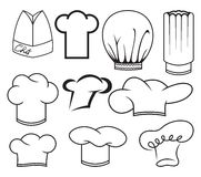 Chef hat collection Royalty Free Stock Image