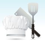 Chef Hat with Cooking Tools Stock Photo