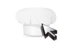 Chef hat and cursor. Royalty Free Stock Images