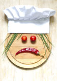 Chef hat on cutting board abstract food concept Royalty Free Stock Photography