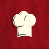 Chef hat. Label abstract background Royalty Free Stock Photography