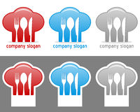 Chef Hat Logo Collection Stock Images