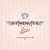 Chef hat menu design Stock Images