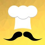 Chef Hat and Mustaches Royalty Free Stock Image