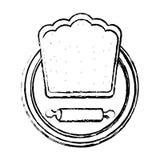 Chef hat restaurant emblem Royalty Free Stock Photos