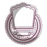 Chef hat restaurant emblem Royalty Free Stock Images