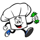 Chef Hat Running with Money Stock Photo