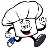 Chef Hat Running Stock Photo
