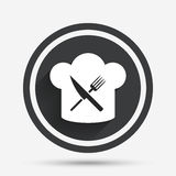 Chef hat sign icon. Cooking symbol. Royalty Free Stock Images