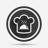 Chef hat sign icon. Cooking symbol. Stock Image