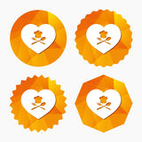 Chef hat sign icon. Love Cooking symbol. Royalty Free Stock Images