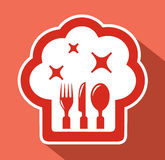 Chef hat symbol Royalty Free Stock Photography