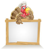Chef Hat Turkey Sign Stock Photography
